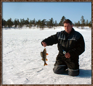 idre soralven river ice fishing icefishing catch
